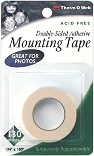Therm-o-Web 1/4 x 180-inch Double Sided Mounting Tape Great for Photos, Clear