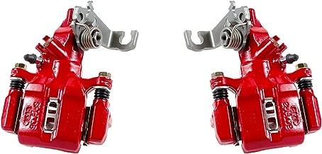 CCK11824 [2] REAR Performance Grade Red Powder Coated Semi-Loaded Caliper Assembly Pair Set