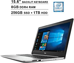 2019 Newest Dell Inspiron 15 5570 15.6 Inch Touchscreen FHD 1080p Laptop (Intel 4-Core i7-8550U up to 4.0GHz, 8GB DDR4 RAM, 256GB SSD (Boot) + 1TB HDD, Intel UHD 620, Backlit KB, Windows 10)