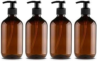 Distributeurs de Savon et de Lotion, 4Pcs 500ML Vide Rechargeables Shampooing Gel Douche Emballage Bouteille récipient Boc...