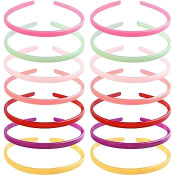 YMHPRIDE, diadema para mujeres y niñas, 14 piezas, diadema de plástico caramelo para niñas, mujeres, diadema antideslizante, accesorios para el cabello a la moda