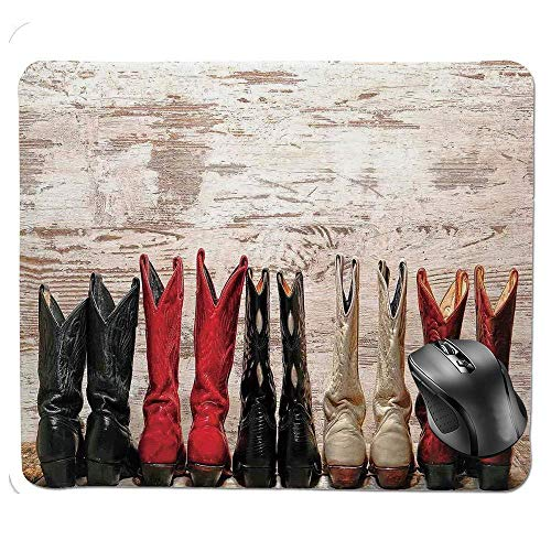 Print Ratón american 6 Cowgirl Wild West Base Mousepad In Leather Folkart X Rubber 1 Legend Theme Slip 8 Boots De Non Alfombrilla Hfysb Rustic 7 JF1lKc