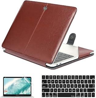 QYiD Funda para MacBook Pro 15 Pulgadas con CD-ROM Model A1286 (Non-Retina), Folio Cuero Carcasa Protector con Cubierta de...