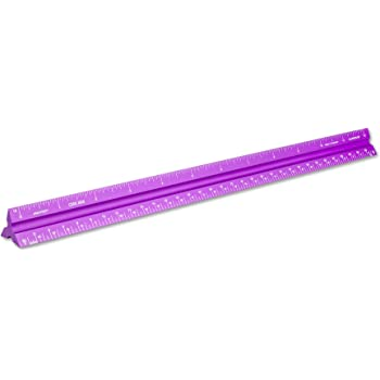 Alumicolor Aluminum Architect Solid Drafting Scale, 12IN, Purple