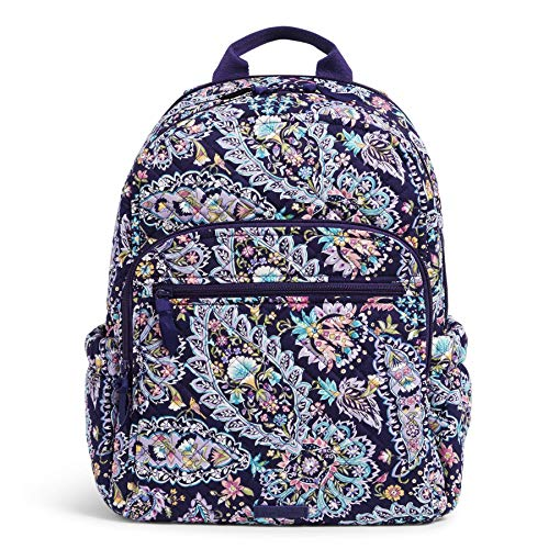 Vera Bradley Women's Signature Cotton Campus Backpack Bookbag, French Paisley, One Size