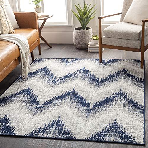 Artistic Weavers Angelo Moderner Chevron-Teppich, 70 x 70 cm, Dunkelblau