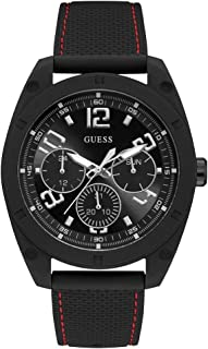 GUESS Mens Quartz Watch, Analog Display and Silicone Strap - W1256G1