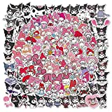 TUHAO Japan My Melody Stickers Anime Graffiti Laptop Skateboard Phone Suitcase Luggage Kids Gift Decal 100Pcs