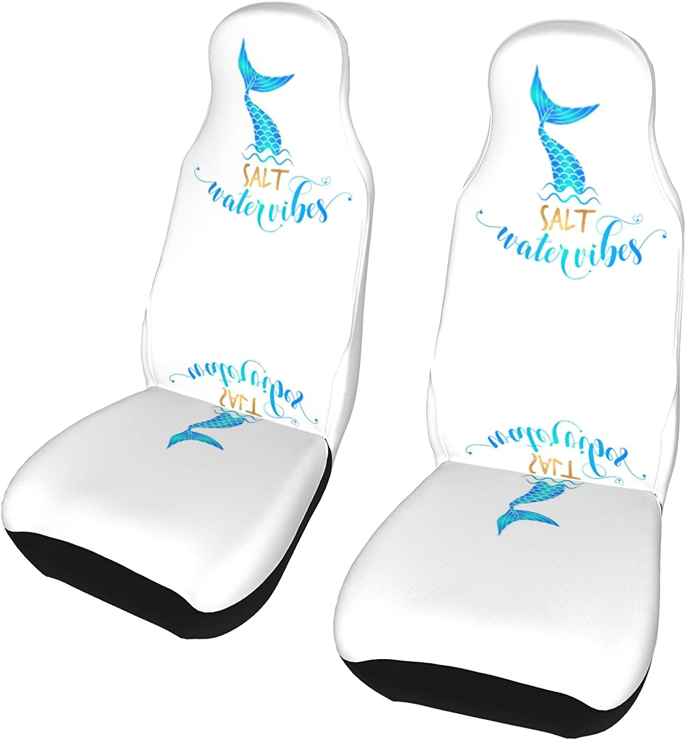 Super sale REDDATES Mermaid Car Seat Cover Protector Max 43% OFF 2 Front Pack Seats