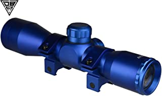 DB TAC Blue Anodize Finished 4X32 Compact Mil-Dot .223 .308 Scope with Rings