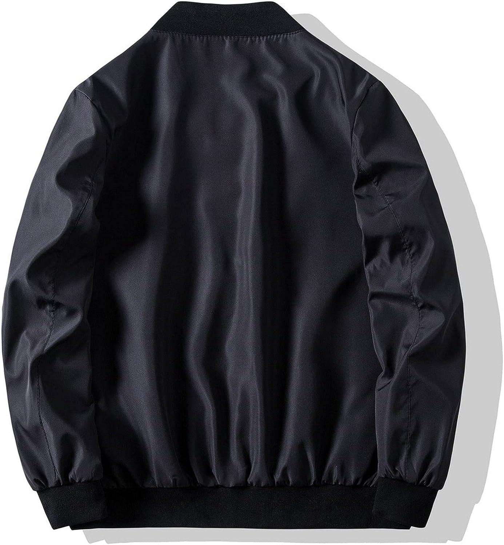 FORUU Men's Streetwear Jackets 2021 Winter Zipper Jacket Solid Stand Collar Tops Loose Fashion Coat For Men With Pocket