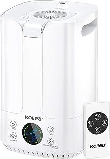 Kollea Ultraschall Luftbefeuchter, 4L Top-Füllung Humidifier mit Lüfter und LED Bildschirm, Ultra Leise Raumluftbefeuchter...