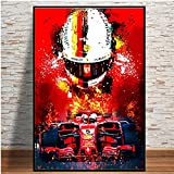 zachking Fernando Alonso F1 Abstrakte Poster Leinwand