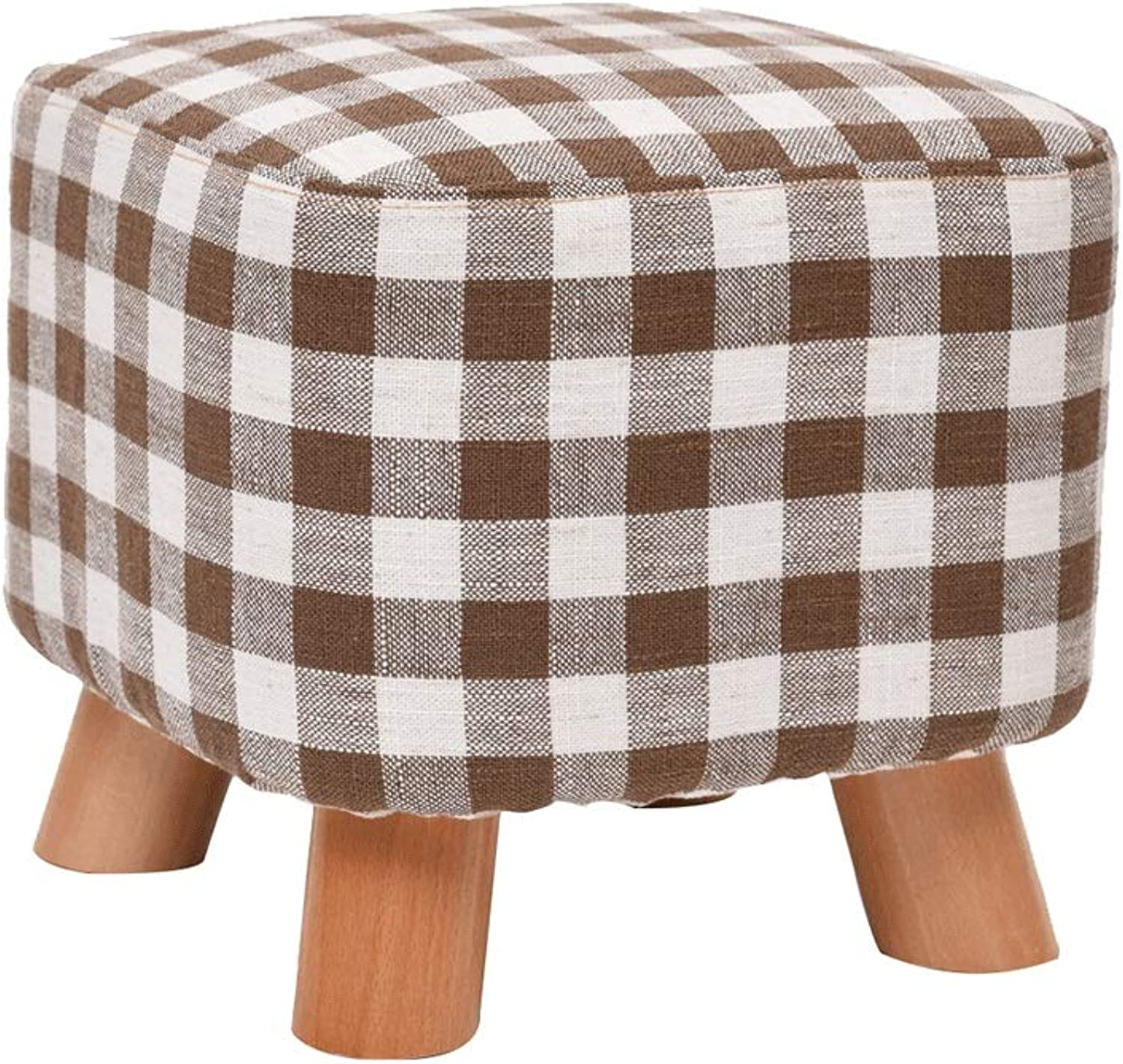 Zcxbhd Solid Wood Footstool,Sofa Bench,Creative Small Square Stool Change shoes Bench Load 150kg 28X25X17.5CM (color   D)