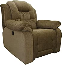 The Couch Cell Motorized Fabric Recliner in Olive Brown