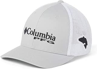 Columbia PFG Mesh Ball Cap, Cool Grey, Black, Red Fish, Large/X-Large