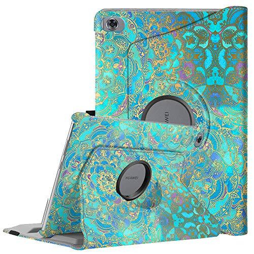 Fintie Hülle für MediaPad M5 Lite 10-360 Grad Rotierend Stand Schutzhülle Cover mit Auto Schlaf/Wach Funktion für Huawei MediaPad M5 Lite 10 10.1 Zoll 2018 Modell Tablet PC,Jade
