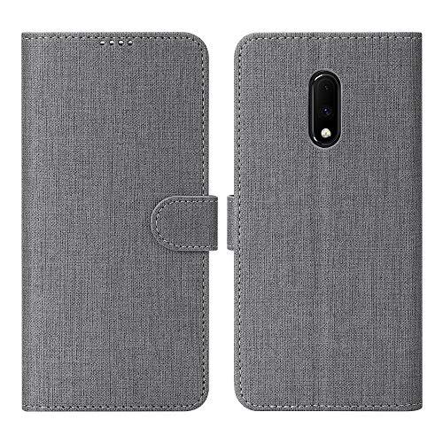 OnePlus 7 Case, Foluu OnePlus 7 Case Canvas Flip/Folio Soft TPU Cover Bumper...