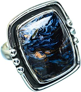 Large Pietersite Ring Size 7.5 (925 Sterling Silver) - Handmade Boho Vintage Jewelry RING955564