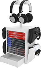 SZCATONG Game Console Storage Tower, Multifunctional Detachable Vertical Stand & Disc Game Disk Holder Compatible with PS5...