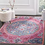 Safavieh Sutton Collection SUT401B Area Rug, 4' x 6', Turquoise/Fuchsia