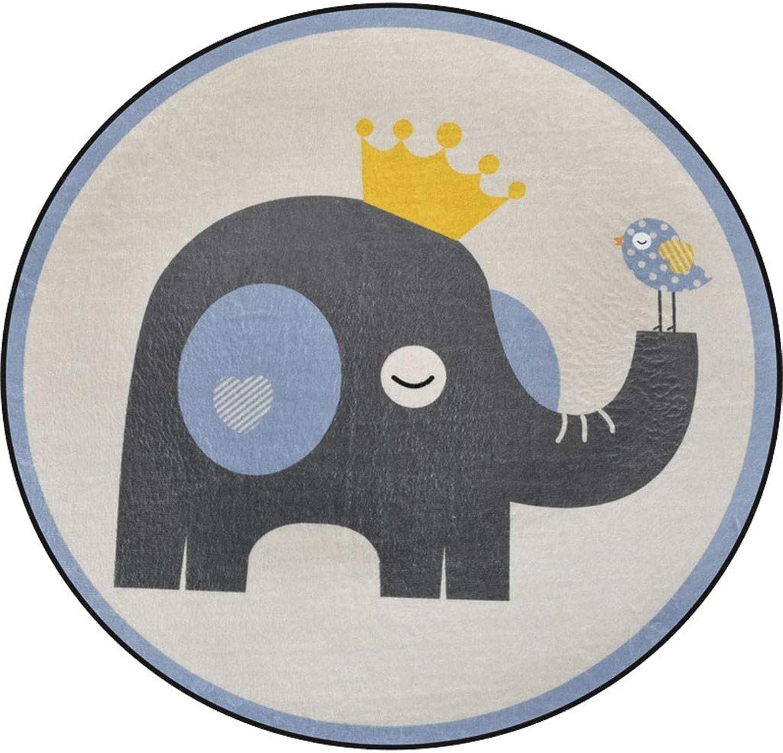 edición limitada en caliente Alfombra, Elefante Dibujos Animados Precioso Animal Dormitorio Colgando Cesta Cesta Cesta Guardarropa Alfombra rojoonda (Talla   Diameter 100cm)  barato en alta calidad