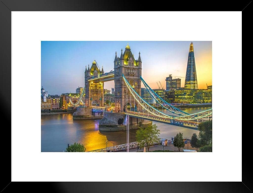 Amazon Com Tower Bridge And The Shard At Sunset London England Uk Photo Photograph Cool Wall Decor Art Print Poster 36x24 Posters Prints