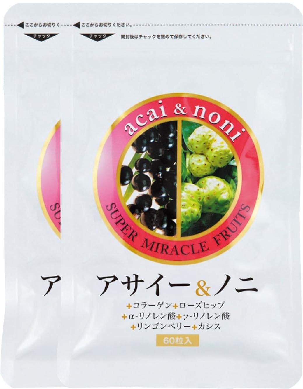 血タール過敏なすこやか笑顔 アサイー&ノニ60粒×2袋セット