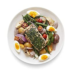 Amazon Meal Kits, Salmon Nicoise Salad with Herb Crust & Olive Aioli, Serves 2