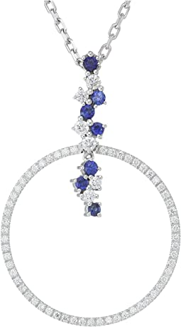 Miseno - Vesuvio 18k Gold Diamond/Sapphire Pendant Necklace