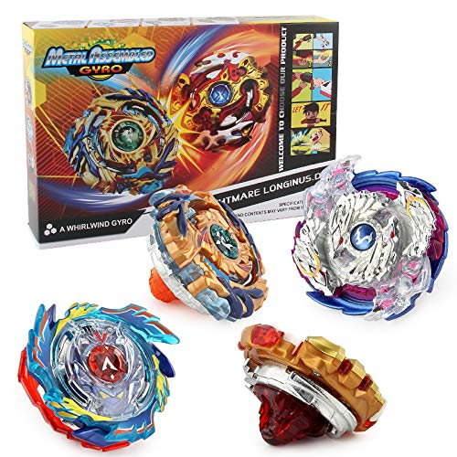 CEKTOYS Bey Battle Burst Avatar Attack Battle Set with Two String Launcher and Grip Starter Set(4in1)