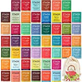 Stash Tea Bags Sampler - Assortment Variety Pack Gift Set - Caffeine and Decaf, Herbal, Black, White, Green - 50 Flavors, 50 Count