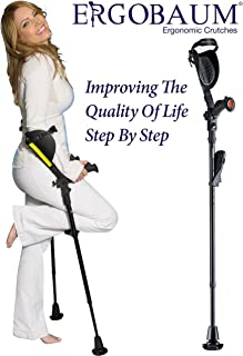 Crutches- Latest Generation Ergobaum by Ergoactives. 1 Pair of The