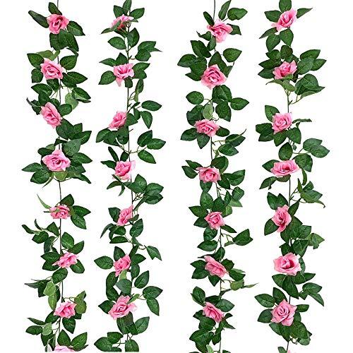 Fake Rose Vine Flowers