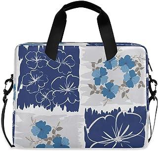 """Unique Pretty Floral Print Laptop Bag Protective Case Computer Messenger Briefcase Women Men 16"""" 15.6"""" 14"""""""