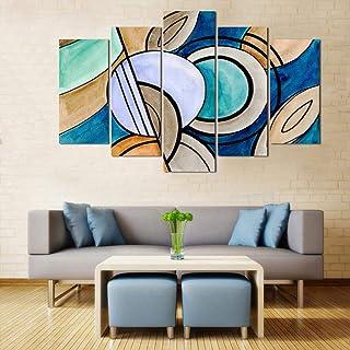 WENS Velvet Modern Art 5 Panels Wall Art (24x40 Inch), WSPL-6036