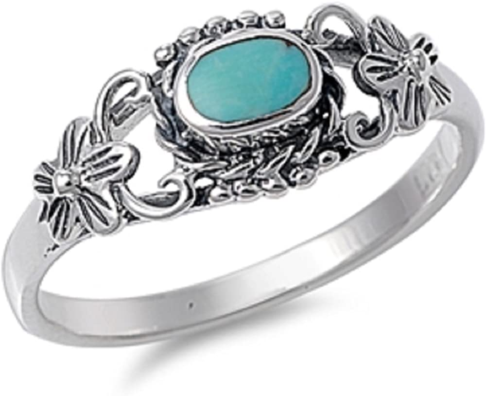free Edric Jewelry Vintage Style Turquoise 925 Sterling Spasm price Stone Si Ring