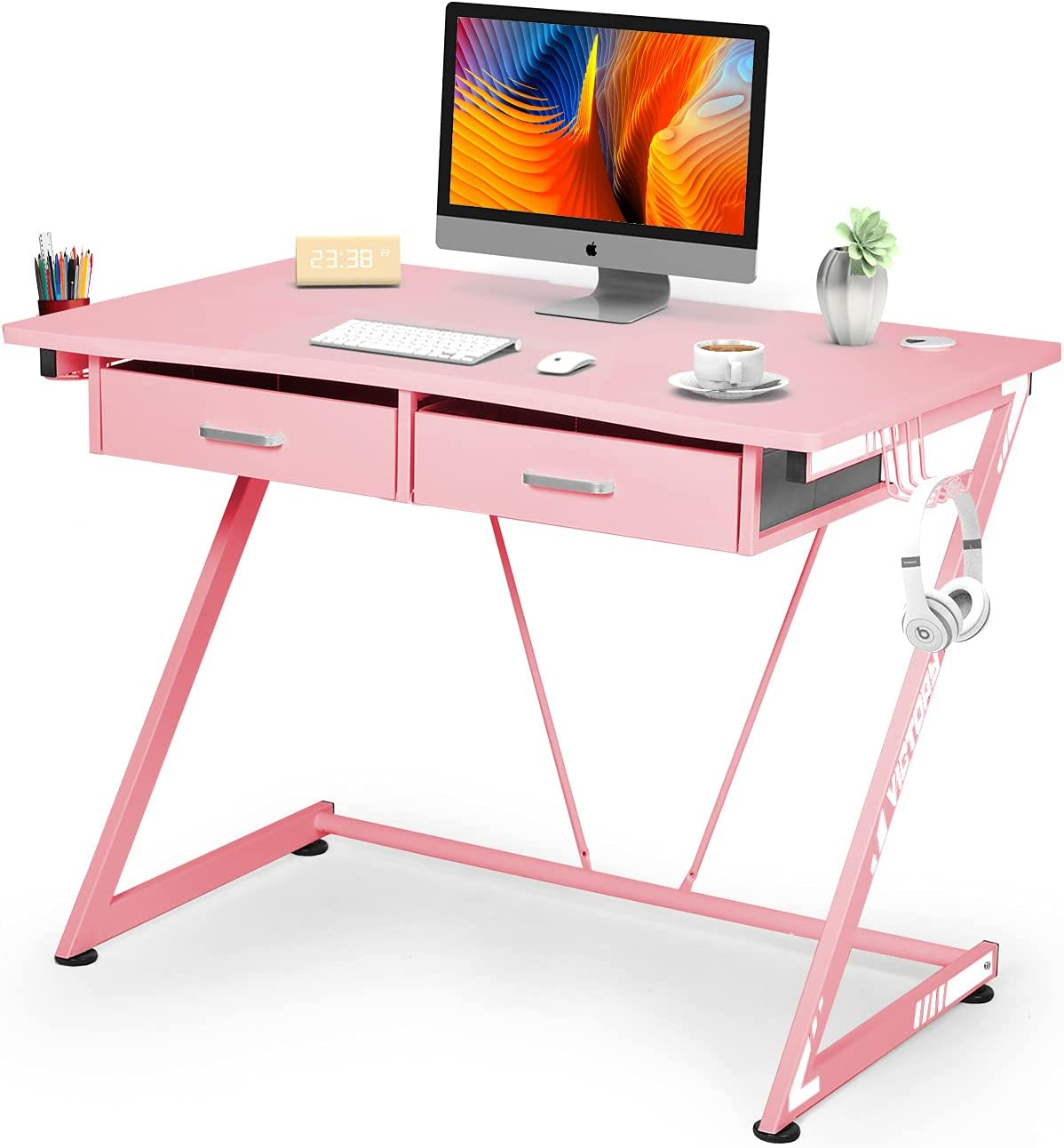 Computer Desk 39'' latest Max 63% OFF PC Home Office Z-Shaped Gaming