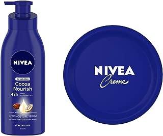 NIVEA Oil in Lotion, Cocoa Nourish, 400ml and NIVEA Creme, Multi Purpose Cream, 200ml