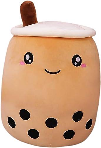 #N/A Cartoon Milk Tea Boba Bubble Tea Plush Stuffed Hug Pillow Office Nap Pillow Cushion - A 24cm Brown