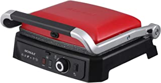 Sonai Sh-310 Sandwich Maker And Contact Grill 2 In 1, 2000 W - Red