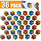 36 Packs Mini Cube,Puzzle Party Toy,Eco-Friendly Material with Vivid Colors,Rubiks Cube Party School Supplies Puzzle Game Set for Boys and Girls, Magic Cube Goody Bag Filler Birthday Gift