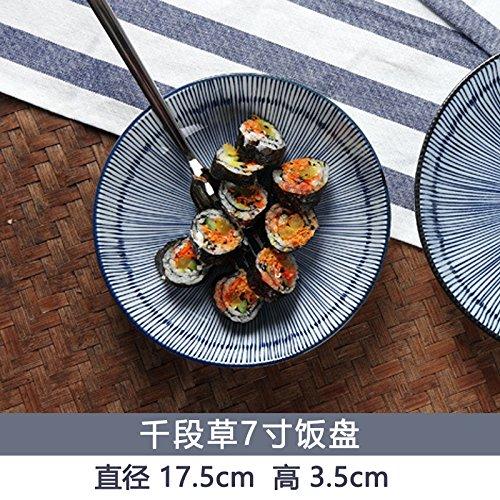 YUWANW - Set di stoviglie in stile giapponese e sezione vento, in ceramica, 20 cm