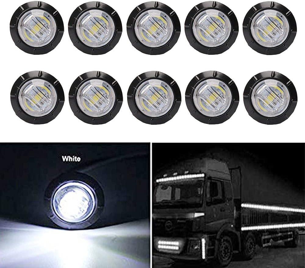 FICBOX 10Pcs 3 4 Inch LED Marker Light Tra Signal lights service Direct sale of manufacturer for 12V
