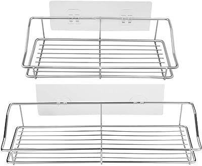 Amazon.com: SMARTAKE - Estantería de baño (2 unidades ...