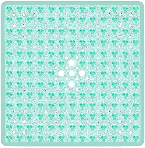 Wimaha Tappetino da Bagno Quadrato con Ventose Antiscivolo, Resistente, Elegante, Antiscivolo, con Design Moderno e Ventose di qualità, Lavabile in Lavatrice e Senza Lattice