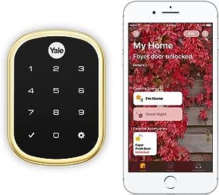 Yale Security YRD256-iM1-605 Assure LOCK SL Yale Assure LOCK SL Works with Apple HomeKit - with IM1 Network Module (YRD256iM1605), Polished Brass