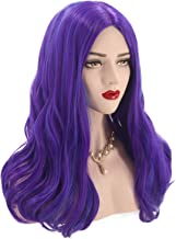 Bopocoko Cosplay Wig for Women Adults Purple Blue Halloween Costume Wigs Long Wavy Anime Party Wig with Wig Cap BU225