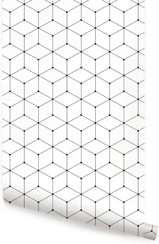 Geometric Reservation Cube Wallpaper - Peel and gift Si by Shapes Simple Stick