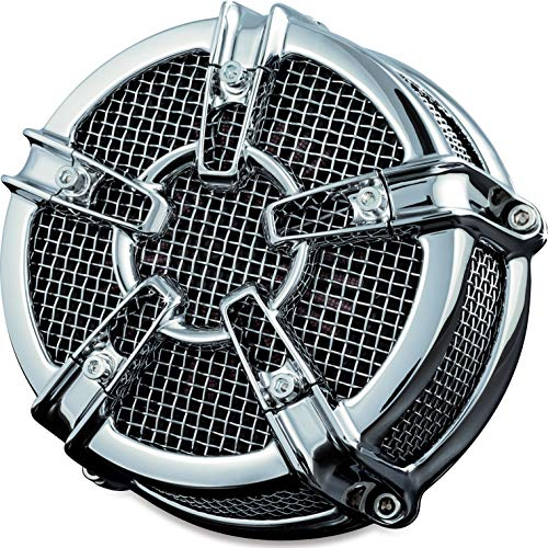 Kuryakyn 9570 Mach 2 Co-Ax Air Cleaner/Filter Kit for 1999-2017 Harley-Davidson Twin Cam, Delphi EFI Motorcycles, Chrome